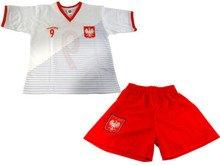 2808662b919271 Komplet piłkarski Reda Polska Lewandowski 2018 junior biało-czerwony