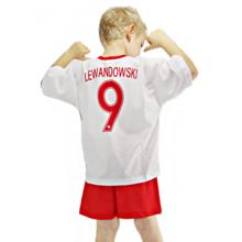 b69b45e0352a73 Komplet piłkarski Reda Polska Robert Lewandowski junior biało-czerwony