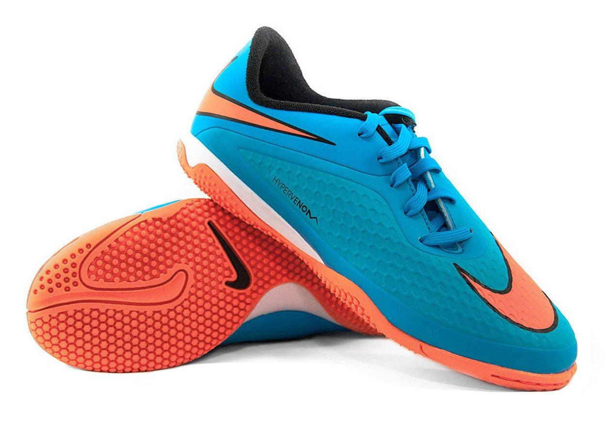 prix compétitif 08c58 033de Niebiesko-pomarańczowe buty piłkarskie na halę Nike Hypervenom Phelon IC  599811-484 JR