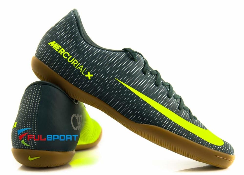 najlepiej online dobra obsługa przystojny Zielone buty piłkarskie na halę Nike MercurialX Vapor IC CR7 852488-376 JR