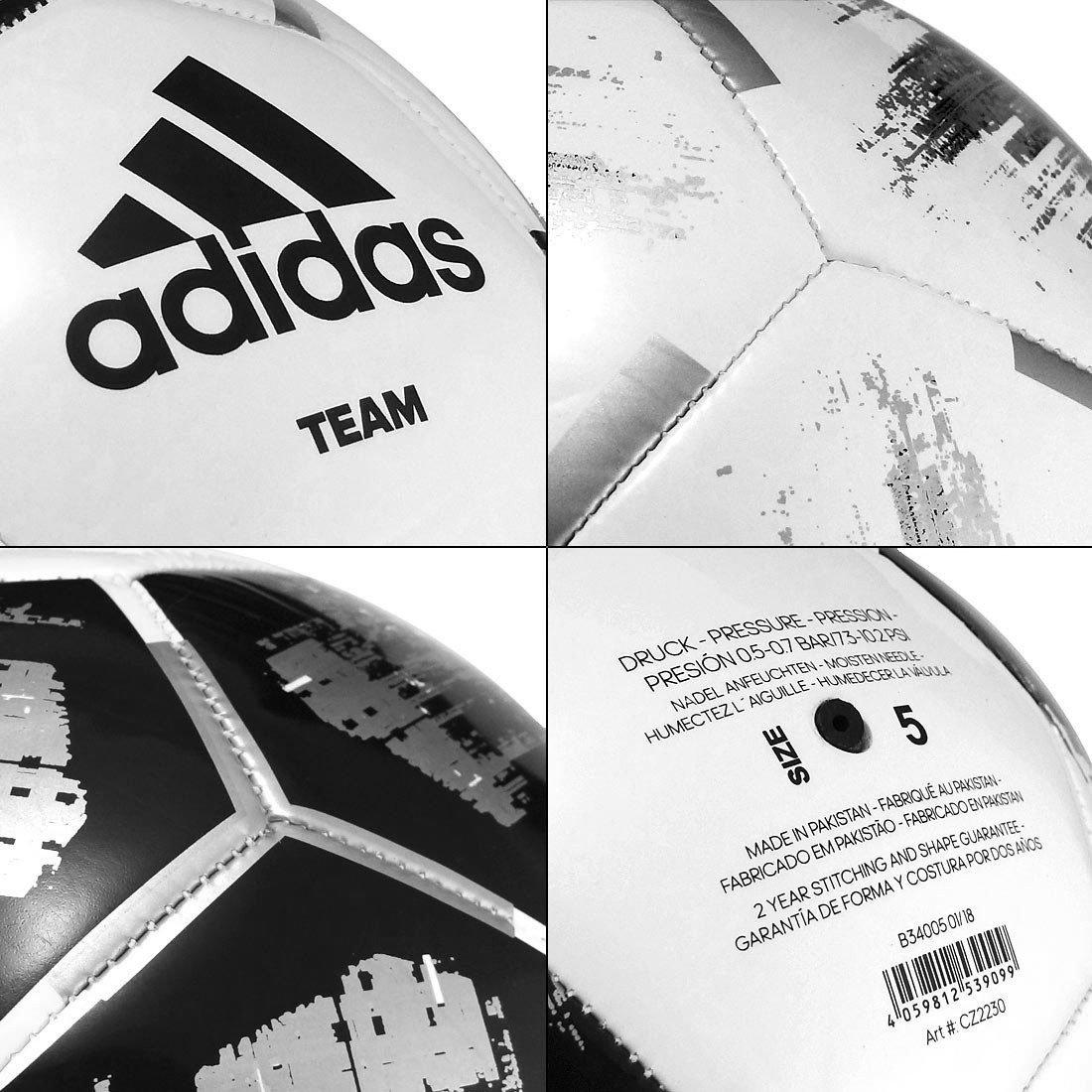 Biało czarna piłka nożna Adidas Team Training CZ2230 r5