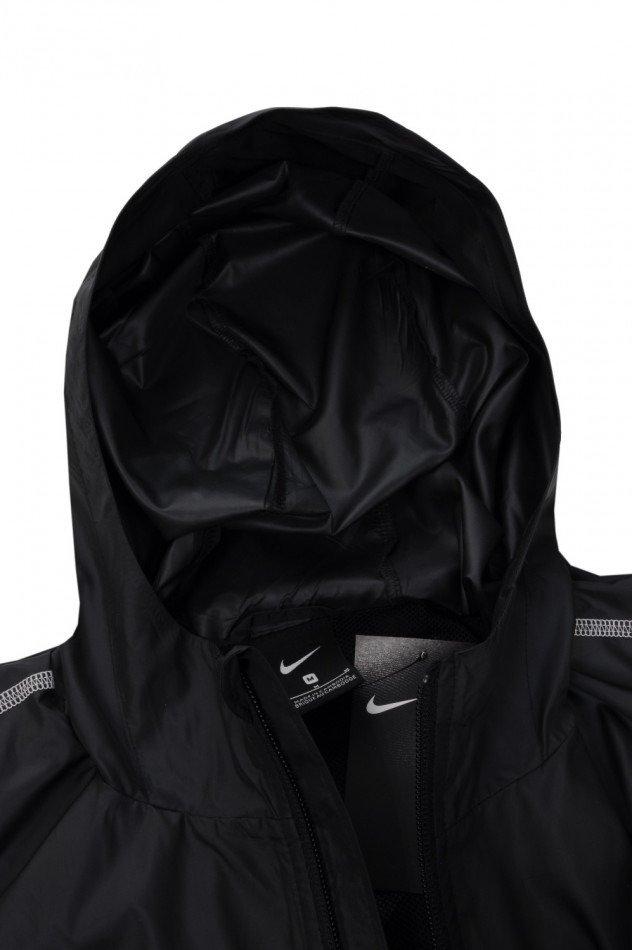 kurtka męska przeciwdeszczowa nike czarna