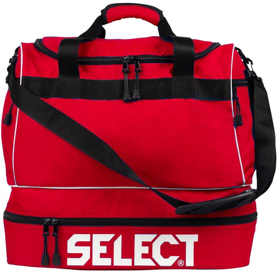 Czerwona torba sportowo treningowa Select z podwójnym dnem 53L