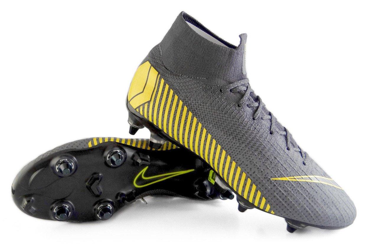 trampki wysoka jakość buty do biegania Szare buty piłkarskie Korki Superfly 6 Elite SG-PRO AC AH7366-070 Mixy  profes.