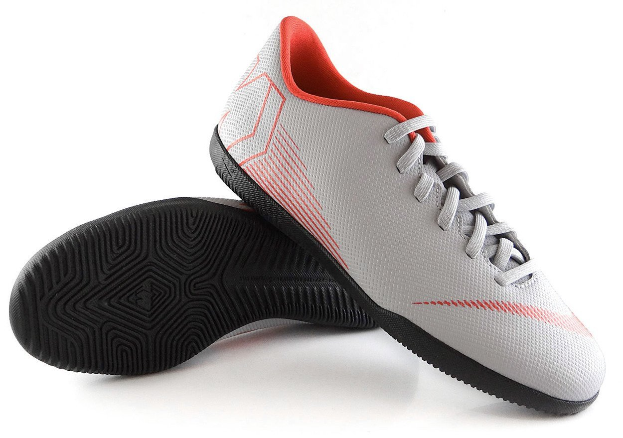 szczegółowe obrazy świetne dopasowanie aliexpress Szaro-czarne buty piłkarskie na halę Nike Mercurial Vapor Club IC  AH7354-060 JR