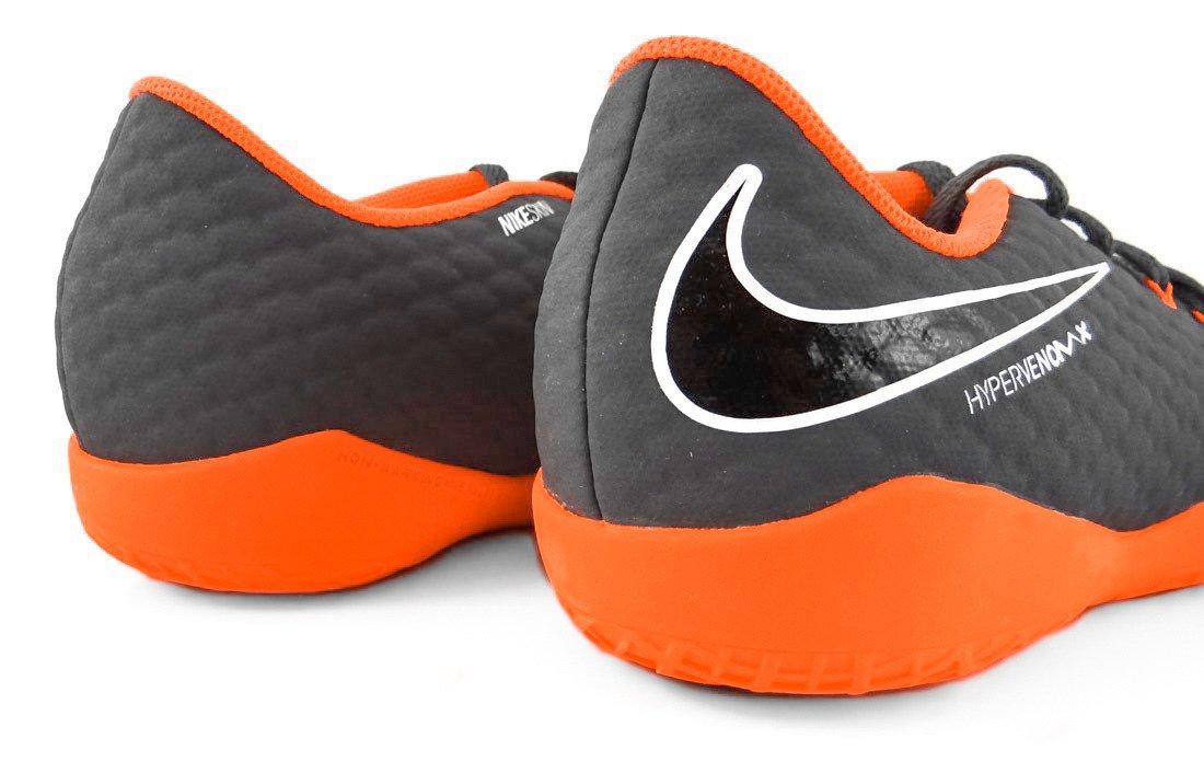 Szaro pomarańczowe buty piłkarskie na halę Nike Hypervenom Phantom Academy IC AH7295 081